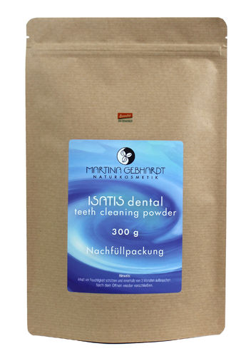 ISATIS dental teeth cleaning powder, Nachfüllpackung